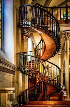 The miraculous staircase in the Loretto Chapel. Completed in 1878, Santa Fe, New Mexico. Photo by Len Saltiel