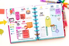 full of color OR black & white in the 'Be Bright' Happy Planner™ of mambi…