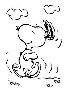 Snoopy Running Coloring Page