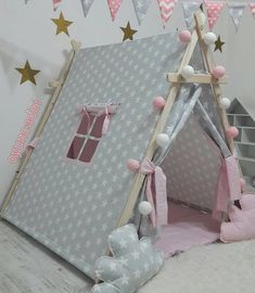 Posts about DIY written by CT Chan, aninspiring editors, Louisa, and Alexandra Kids Tents, Teepee Kids, Teepees, Teepee Tent, Diy Tipi, Sleepover Birthday Parties, Girl Sleepover, Diy For Kids, Crafts For Kids