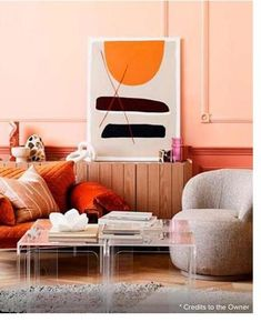 coral-colored rooms is that they can be brightened and darkened without sacrificing the original coloring. So you can have white coral rooms, and bright pink coral rooms. This is certainly something which cannot be said of many typical room colors. Colorful Interior Design, Decor Interior Design, Interior Decorating, Interior Ideas, Cafe Interior, Boat Interior, Home Decor Trends, Decor Ideas, Diy Ideas