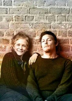 Melissa McBride and Norman Reedus.