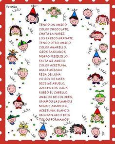 Amigos de colores - Poema de Inmaculada Díaz - contra la discriminación pero también para aprender los colores...