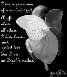 I am in possession of a wonderful gift a gift above all others: I have known such perfect love for i am an angel's mothers.