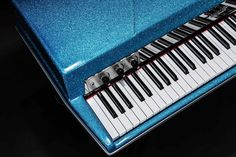 Heres another of a Royal Blue Sparkle #vintagevibepiano This might be our new favorite color! What do you guys think? --- #vintagevibe #electricpiano #vintagevibepiano #keys #pianokeys #sparklecity #sparkles #royalblue #blue #piano #tinepiano #VV73