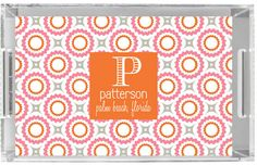 Personalized Lucite Tray by Pink Wasabi Ink RETRO