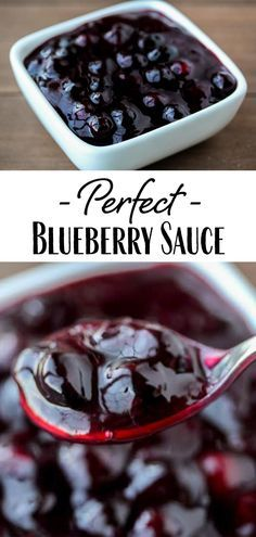 Blueberry Topping For Cheesecake, Cheesecake Toppings, Waffle Toppings, Blueberry Desserts, Blueberry Jam, Fruit Recipes, Sweet Recipes, Dessert Recipes, Cooking Recipes