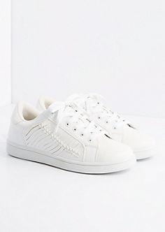 White Side Braid Vintage Low Top Sneakers By Wild Diva | rue21