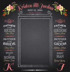 Chalkboard Wedding Backdrop Wedding Photo by ImpressionPrints