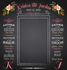 Chalkboard Wedding Backdrop Wedding Photo by ImpressionPrints