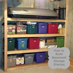 How to build basement storage shelves