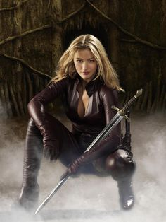 Cara from Legend of the Seeker which is based on the Sword of Truth Series by Terry Goodkind