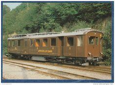 AB Appenzeller Bahn - Meterspur-Dieseltriebwagen ABDm 2/4 Nr. 56 - Herisau, 11.8.1980 - Trains - Railway - Trains  Switzerland  #railway #postcard #train #bahn #ferrovia #ansichtskarten #cartoline #cartepostale #locomotive #lokomotive