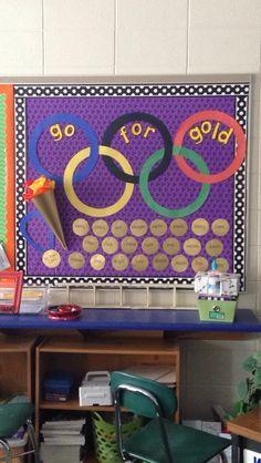 Olympic bulletin board. 5th grade classroom. Winter Olympics. …