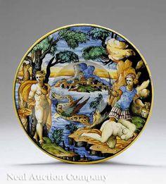 19th-century Istoriato platter