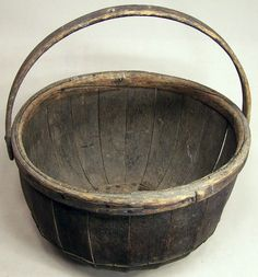 Antique Large Wooden Grain Basket.. ~♥~.