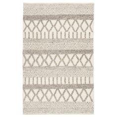 "Shop Janson Handmade Handwoven Geometric Grey/ White Area Rug - 7'10"" x 9'10"" - On Sale - Overstock - 11110735"