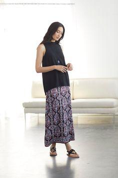 1845a2d7ab7 Maximum comfort meets maximum style (featuring J.Jill s Printed Easy Knit  Maxi Dress)