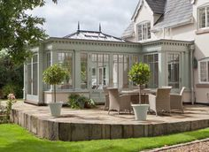Metal conservatory with attention to detail
