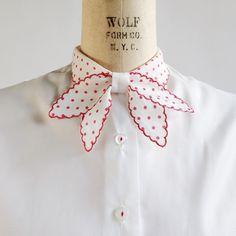 Sweetest polka dot collar, coming soon!