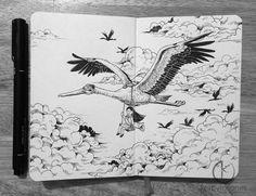 El asombroso cuaderno de bocetos de Kerby Rosanes