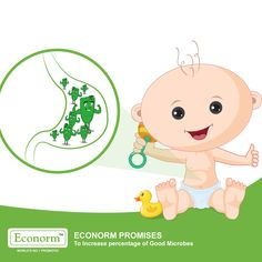 Good microbes in the body keep your child healthy. Econorm provides millions of live microbes in every sachet that help metabolism.