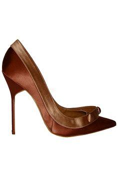 Manolo Blahnik Brown Stiletto Pumps Fall Winter 2010 #Manolos #Shoes #Heels