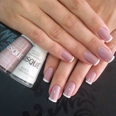 You sure you love your nails,you're always looking for new and unique styles, inspiring photos that you can see below with a brilliant nail art designs which you can use it for your,everyday lifestyle. French Nails, French Manicures, White Nails, Pink Nails, White Polish, Pink Nail Designs, Nails Design, Super Nails, Nagel Gel