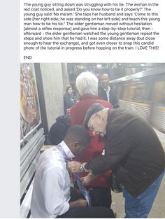 Helping the young man