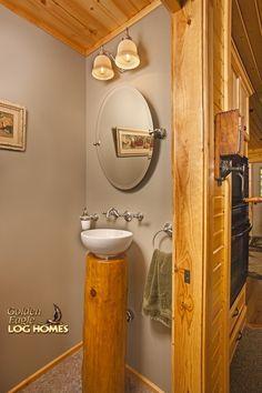 Log Home By Golden Eagle Log Homes - Custom Log Sink