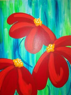 Wine And Canvas, Diy Canvas Art, Canvas Crafts, Painting Canvas, Paint And Sip, Paint Party, Easy Paintings, Whimsical Art, Acrylic Art