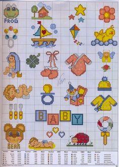 Gráficos pontopunto de cruz   cruz baby