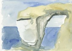 When the Azure Window collapsed in a storm on Gozo a few weeks back I went looking for my sketch pad as I vaguely remembered starting to draw it when I visited it the year before last. Mermaid Purse, Sketch Pad, I Give Up, Window, Colouring, Drawings, Mermaids, Illustration, Painting