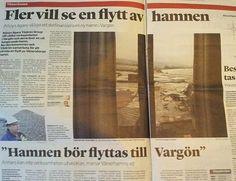 Stefan Kärvling om lokaltidningens hamnartiklar.