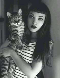 Bettie bangs and kitty two of my favorite things