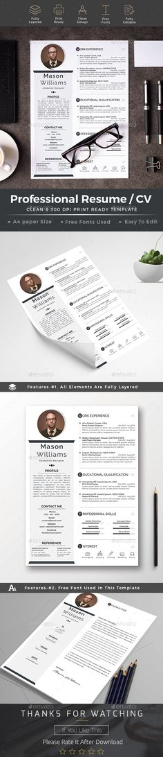 #Resume - Resumes Stationery Download here: https://graphicriver.net/item/resume11/19216908?ref=alena994