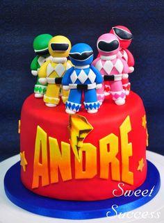 Power Rangers Cake Tortas Power Rangers, Bolo Power Rangers, Power Rangers Birthday Cake, Pawer Rangers, 4th Birthday Cakes, Twin Birthday, 6th Birthday Parties, Power Ranger Pinata, Lightning Mcqueen Birthday Cake