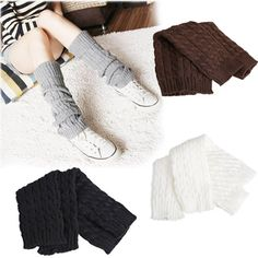Love Winter Women's Knitting Sleeve Socks Girl's Knit Crochet Boot Cuffs Leg Warmers Gaiters 4 Colors