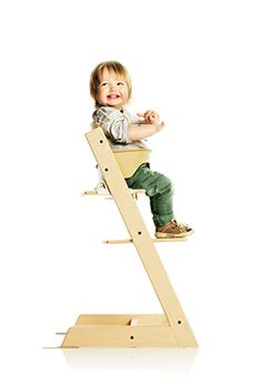 Stokke Trip Trap Highchair :: I won't give up my compact, portable table chair (Inglesina), but I'll need another seat and want a freestanding option. I love that Tripp Trapp pulls right up to the table and grows with your child. Optional harness for climbers.