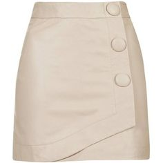 TopShop Blush Leather Wrap Skirt