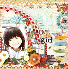 This is a layout made for GDT work at Once Upon A Sketch site. I made my layout using the Spring Market Collection.