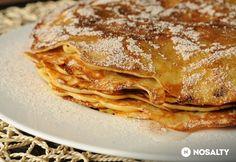 Almás palacsinta | NOSALTY Waffles, Pancakes, Breakfast Recipes, Dessert Recipes, Hungarian Recipes, Hungarian Food, Sausage Recipes, Lasagna, Fudge