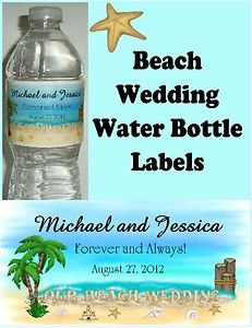 beach wedding bottles with wishes | 100 Beach Wedding Favors Water Bottle Labels | eBay