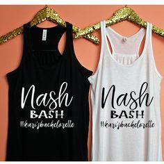 Bachelorette Party Shirts, Nash Bash Tank Top, Workout Top, Tank Top, Bachelorette Party Tanks, Sorority Tanks by ShopatBash on Etsy