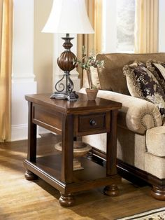 Porter Chairside End Table, Ashley, Porter