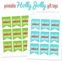 Holly Jolly Christmas Gift Tags