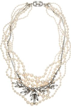 Tom Binns Pearls in Peril Glass Pearl and Swarovski Crystal Necklace in Multicolor (pearl) | Lyst