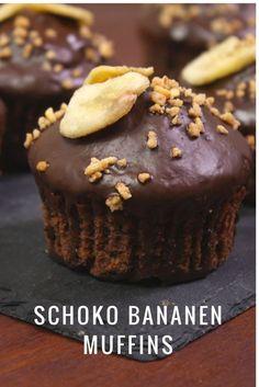 Saftige Schoko Bananen Muffins ganz schnell gebacken