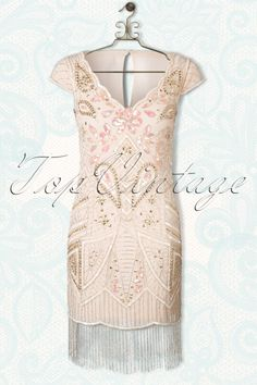 Frock and Frill Millie Embellished Beaded Nude Soft Pink Flapper Dress 100 22 14801 20150304 0010Haakje