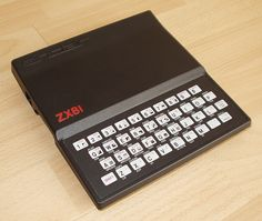 David Robotham's first computer - Sinclair Spectrum ZX81. Launched in the UK in 1981 it is the first mass produced home computer available to buy on the high street